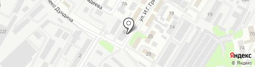Автостим на карте Липецка