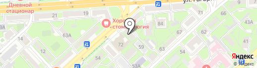 Адвокатские кабинеты Угловой О.А. и Угловой Н.А. на карте Липецка