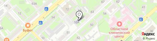 Детская школа искусств №1 на карте Липецка