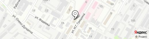КАМавтоМАЗ на карте Липецка