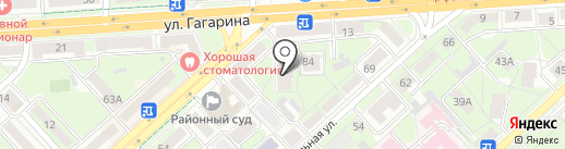 Медея на карте Липецка