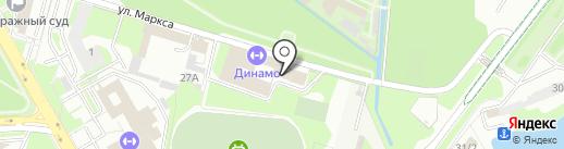 Динамо на карте Липецка