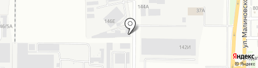 Астанция на карте Ростова-на-Дону