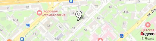 Садоводческое некоммерческое товарищество им. И.В. Мичурина на карте Липецка
