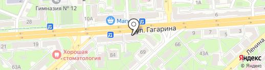Детский квартал на карте Липецка