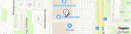Фото фишка на карте Ростова-на-Дону