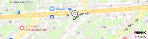 Маугли на карте Липецка