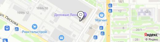 Деловые Линии на карте Ростова-на-Дону