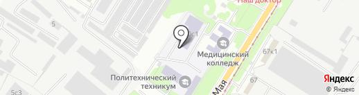 Липецкий политехнический техникум на карте Липецка