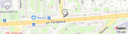 Арфа на карте Липецка