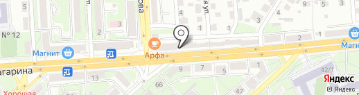 Автовик на карте Липецка