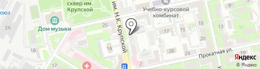 Альтаир на карте Липецка