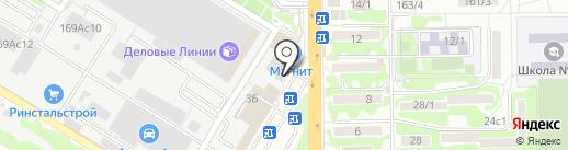 Аксинья-Юг на карте Ростова-на-Дону