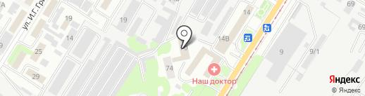Дом ночного пребывания для лиц без определенного места жительства на карте Липецка