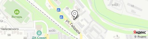 Баня №4 на карте Липецка
