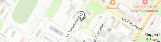 Шиномонтажная мастерская на ул. Талалихина на карте Липецка