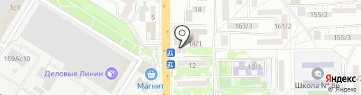 Зеленая футболка на карте Ростова-на-Дону