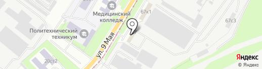 Ковчег на карте Липецка