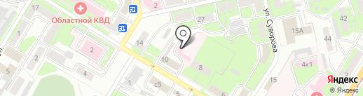 Липецкая теплосетевая компания на карте Липецка