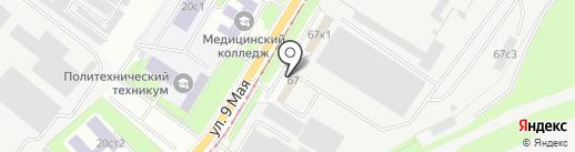 Шанкси на карте Липецка