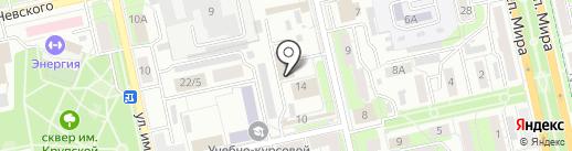 Магазин по продаже колбасных изделий на карте Липецка