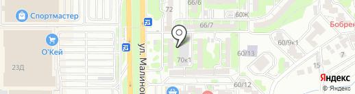 Пивной гараж на карте Ростова-на-Дону