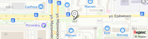 Конвент на карте Ростова-на-Дону
