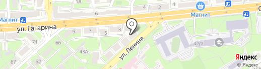 Ермак на карте Липецка