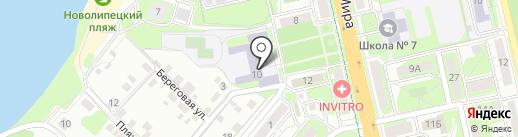 Средняя общеобразовательная школа №38 на карте Липецка