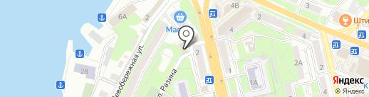 Креветка на карте Липецка