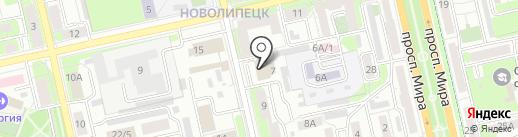 Химчистка на карте Липецка