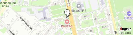 Пивной арсенал на карте Липецка