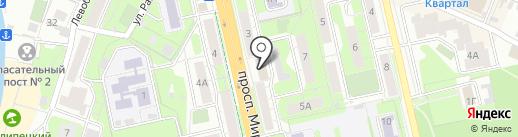Молодежное на карте Липецка