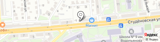 Почтовое отделение №20 на карте Липецка