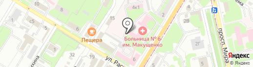 Областная научная медицинская библиотека, ГУ на карте Липецка
