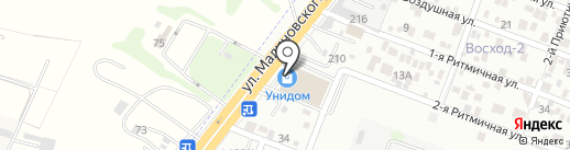 Унидом на карте Ростова-на-Дону