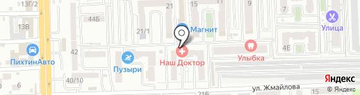 Лагуна на карте Ростова-на-Дону