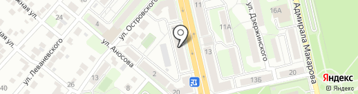Сфера на карте Липецка