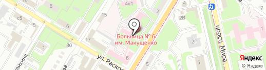 Городская больница №6 им. В.В. Макущенко на карте Липецка