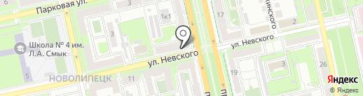 Газовый участок №6 на карте Липецка