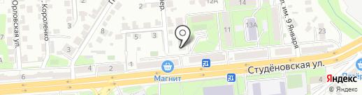 Градус на карте Липецка
