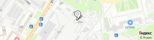 Сауна на ул. 9 Мая на карте Липецка