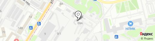 Визит на карте Липецка
