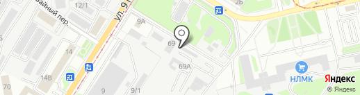 Автотон на карте Липецка