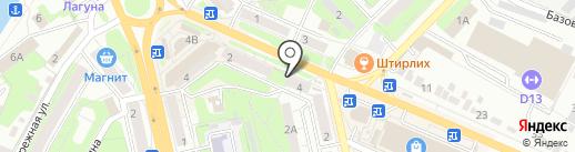 Магазин женской одежды на карте Липецка