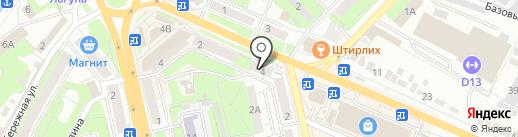 Нимфа на карте Липецка