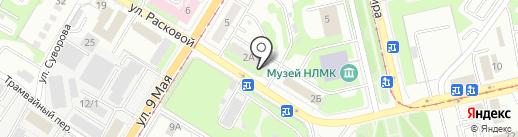 Липецккомбанк, ПАО на карте Липецка