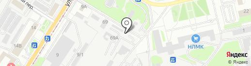 Аквапринт на карте Липецка