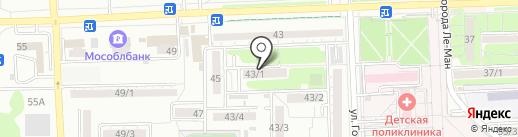 Библиотека им. П.В. Лебеденко на карте Ростова-на-Дону