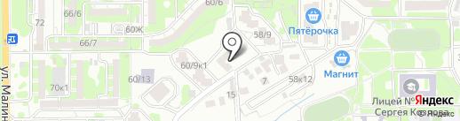 Созидание на карте Ростова-на-Дону
